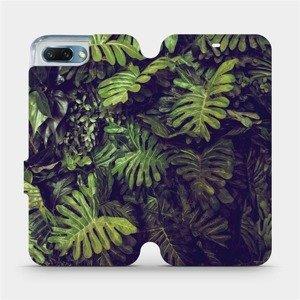 Flipové pouzdro Mobiwear na mobil Honor 10 - V136P Zelená stěna z listů