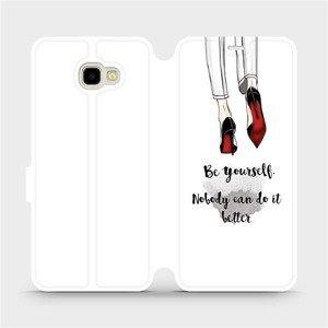 Flipové pouzdro Mobiwear na mobil Samsung Galaxy J4 Plus 2018 - M046P Be yourself