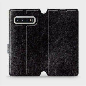 Flipové pouzdro Mobiwear na mobil Samsung Galaxy S10 Plus v provedení C_BLS Black&Gray s šedým vnitřkem