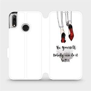 Flipové pouzdro Mobiwear na mobil Huawei Y7 2019 - M046P Be yourself