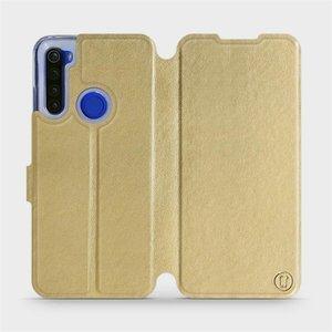 Flipové pouzdro Mobiwear na mobil Xiaomi Redmi Note 8T v provedení C_GOS Gold&Gray s šedým vnitřkem