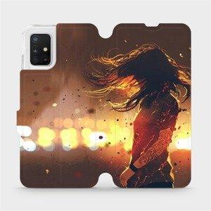 Flipové pouzdro Mobiwear na mobil Samsung Galaxy A51 - MA02S Tetovaná dívka