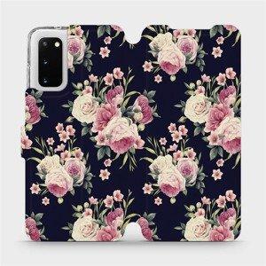 Flipové pouzdro Mobiwear na mobil Samsung Galaxy S20 - V068P Růžičky