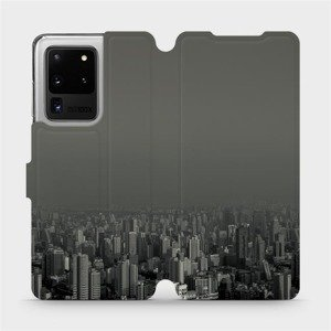 Flipové pouzdro Mobiwear na mobil Samsung Galaxy S20 Ultra - V063P Město v šedém hávu
