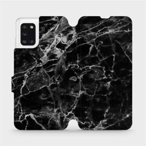 Flipové pouzdro Mobiwear na mobil Samsung Galaxy A31 - V056P Černý mramor