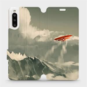 Flipové pouzdro Mobiwear na mobil Sony Xperia 10 II - MA03P Oranžové letadlo v horách