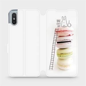 Flipové pouzdro Mobiwear na mobil Xiaomi Redmi 9A - M090P Makronky - have a nice day