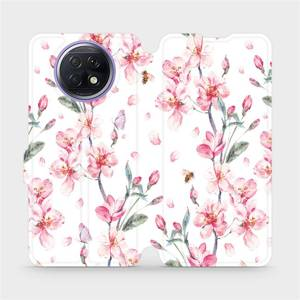 Flipové pouzdro Mobiwear na mobil Xiaomi Redmi Note 9T 5G - M124S Růžové květy