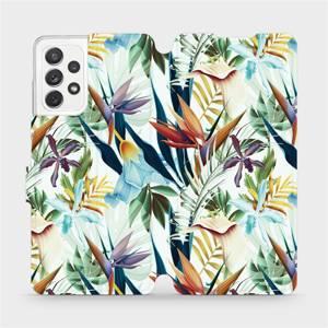 Flipové pouzdro Mobiwear na mobil Samsung Galaxy A72 - M071P Flóra
