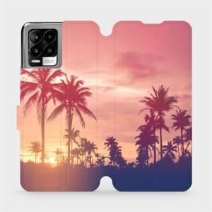 Flip pouzdro Mobiwear na mobil Realme 8 - M134P Palmy a růžová obloha