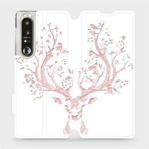 Flip pouzdro Mobiwear na mobil Sony Xperia 1 III - M007S Růžový jelínek