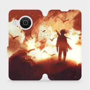 Flip pouzdro Mobiwear na mobil Nokia X10 - MA06S Postava v ohni