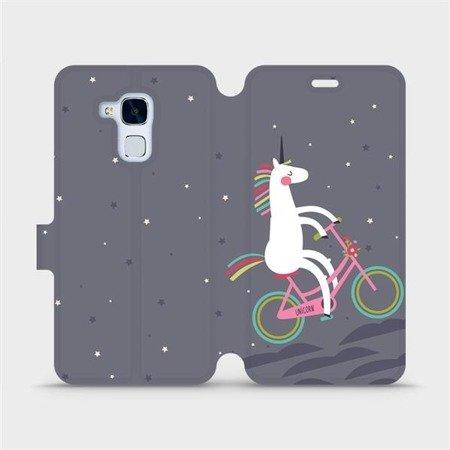 Flipové pouzdro Mobiwear na mobil Honor 7 Lite - V024P Jednorožec na kole