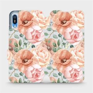 Flip pouzdro Mobiwear na mobil Huawei Y6 2019 - MP02S Pastelové květy