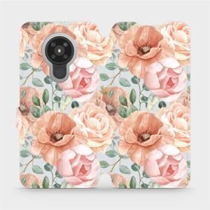Flip pouzdro Mobiwear na mobil Nokia 5.3 - MP02S Pastelové květy