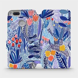 Flip pouzdro Mobiwear na mobil Xiaomi Mi A1 - MP03P Modrá květena
