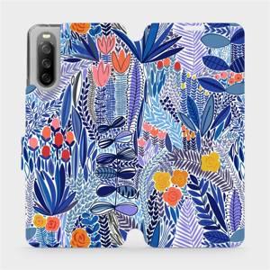 Flip pouzdro Mobiwear na mobil Sony Xperia 10 III - MP03P Modrá květena