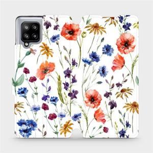 Flip pouzdro Mobiwear na mobil Samsung Galaxy A42 5G - MP04S Luční kvítí