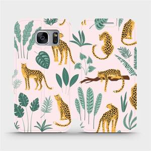 Flip pouzdro Mobiwear na mobil Samsung Galaxy S7 Edge - MP07S Leopardi