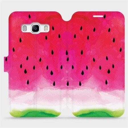 Flipové pouzdro Mobiwear na mobil Samsung Galaxy J5 2016 - V086S Melounek