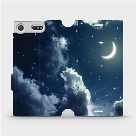Flipové pouzdro Mobiwear na mobil Sony Xperia XZ1 Compact - V145P Noční obloha s měsícem