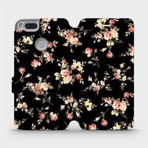 Flipové pouzdro Mobiwear na mobil Xiaomi Mi A1 - VD02S Květy na černé