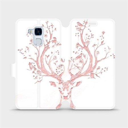 Flipové pouzdro Mobiwear na mobil Honor 7 Lite - M007S Růžový jelínek