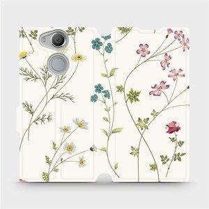 Flipové pouzdro Mobiwear na mobil Sony Xperia XA2 - MD03S Tenké rostlinky s květy