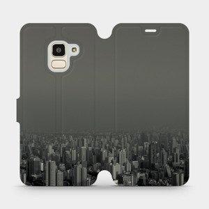 Flipové pouzdro Mobiwear na mobil Samsung Galaxy J6 2018 - V063P Město v šedém hávu