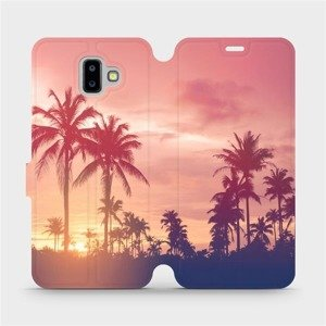 Flipové pouzdro Mobiwear na mobil Samsung Galaxy J6 Plus 2018 - M134P Palmy a růžová obloha