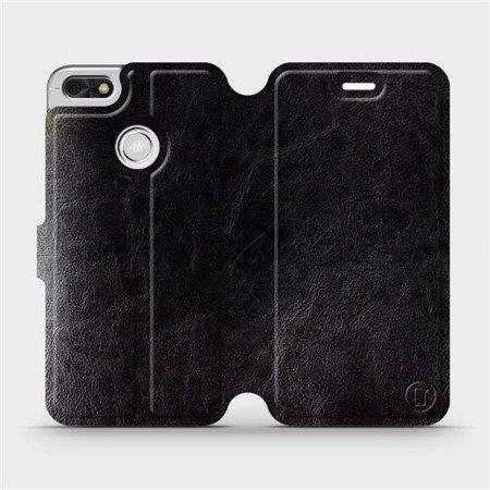 Parádní flip pouzdro Mobiwear na mobil Huawei P9 Lite mini v provedení C_BLS Black&Gray s šedým vnitřkem
