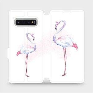 Flipové pouzdro Mobiwear na mobil Samsung Galaxy S10 Plus - M005S Plameňáci
