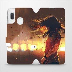 Flipové pouzdro Mobiwear na mobil Samsung Galaxy A20e - MA02S Tetovaná dívka
