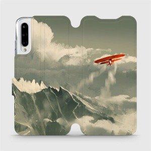 Flipové pouzdro Mobiwear na mobil Xiaomi Mi A3 - MA03P Oranžové letadlo v horách