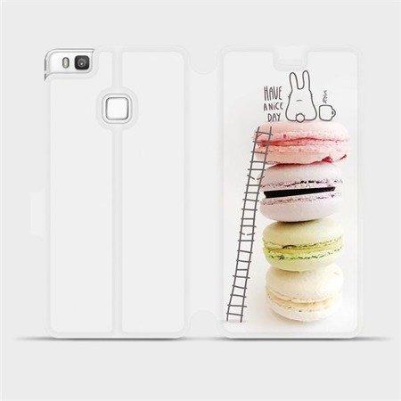 Flipové pouzdro Mobiwear na mobil Huawei P9 Lite - M090P Makronky - have a nice day