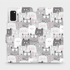 Flipové pouzdro Mobiwear na mobil Samsung Galaxy A41 - M099P Kočičky