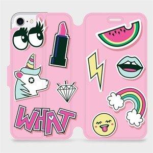 Flipové pouzdro Mobiwear na mobil Apple iPhone SE 2020 - M129S Růžové WHAT