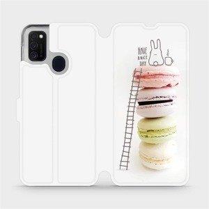 Flipové pouzdro Mobiwear na mobil Samsung Galaxy M21 - M090P Makronky - have a nice day