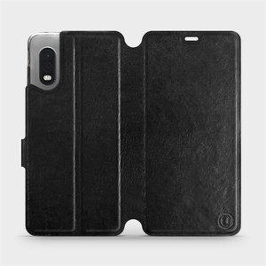 Flipové pouzdro Mobiwear na mobil Samsung Xcover PRO v provedení C_BLS Black&Gray s šedým vnitřkem