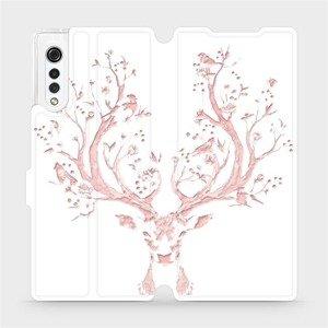 Flipové pouzdro Mobiwear na mobil LG Velvet - M007S Růžový jelínek