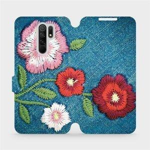 Flipové pouzdro Mobiwear na mobil Xiaomi Redmi 9 - MD05P Džínové květy
