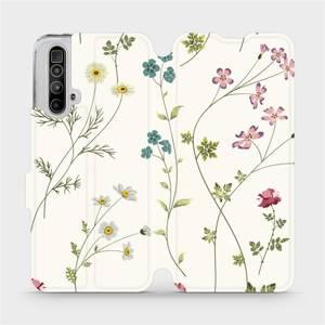 Flipové pouzdro Mobiwear na mobil Realme X3 SuperZoom - MD03S Tenké rostlinky s květy