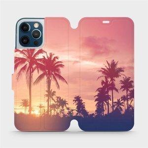 Flipové pouzdro Mobiwear na mobil Apple iPhone 12 Pro Max - M134P Palmy a růžová obloha