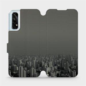 Flipové pouzdro Mobiwear na mobil Realme 7 - V063P Město v šedém hávu