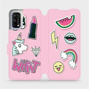Flipové pouzdro Mobiwear na mobil Realme 7 5G - M129S Růžové WHAT