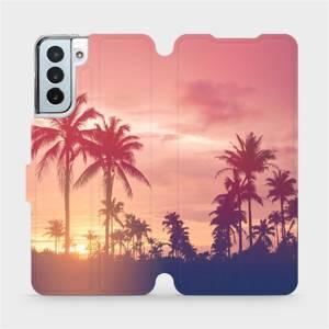 Flipové pouzdro Mobiwear na mobil Samsung Galaxy S21 Plus 5G - M134P Palmy a růžová obloha
