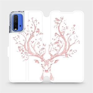 Flipové pouzdro Mobiwear na mobil Xiaomi Redmi 9T - M007S Růžový jelínek