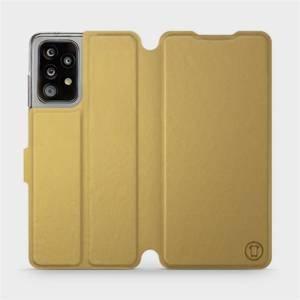 Flipové pouzdro Mobiwear na mobil Samsung Galaxy A52 / A52 5G / A52s 5G v provedení C_GOS Gold&Gray s šedým vnitřkem