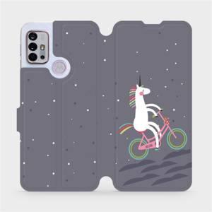 Flipové pouzdro Mobiwear na mobil Motorola Moto G10 - V024P Jednorožec na kole