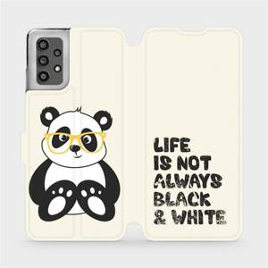 Flip pouzdro Mobiwear na mobil Samsung Galaxy A32 LTE - M041S Panda - life is not always black and white